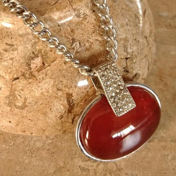 Jewelry carnelian gemstone pendant necklace 16 poshmark carnelian gemstone pendant necklace 16 aloadofball Choice Image